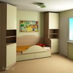 проект на детска стая с легло