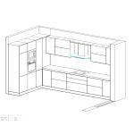 кухня, вградени мебели, идея