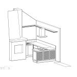 схема, кухня на фирма Красита Дизайн