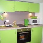 кухненски шкафове, зелено